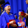 6-6-14   --- Vickie Turley after crossing the stage at KHS Graduation. --<br />   Tim Bath | Kokomo Tribune