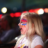 5-9-14<br /> Kelly Miller Circus<br /> Basey Bangert laughs at the clown during the Kelly Miller Circus performance on Friday afternoon.<br /> Kelly Lafferty | Kokomo Tribune