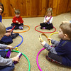 3-4-13<br /> Kaye Jean Swinehart teaches Kindermusik at Highland Park Church. Swinehart will be moving to Michigan. Learning about different percussion instruments are  Eli Carter, Connor Clouser, Dawson Floyd, Annabella Beadham and Charlie Maurick.<br /> KT photo | Tim Bath