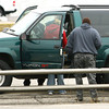 3-1-13<br /> Kokomo Police search a car along US31 at Vaile Street on Friday. They arrested Alvin Kim Poe on Meth charges.<br /> KT photo | Tim Bath