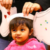 3-2-13<br /> Kokomo Howard County Public Library south branch Read Across America Day & Celebration. Samantha Adams, 22 months, has a pair of Horton ears. From the book Horton Hears a Who.<br /> KT photo   Tim Bath