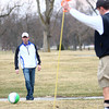 3-21-14<br /> Footgolf at Tipton Municipal Golf Course<br /> Keegan Gray aims his kick of the soccer ball at the hole during footgolf at Tipton Municipal Golf Course.<br /> KT photo | Kelly Lafferty