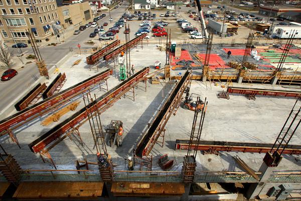 3-24-14   --- Continueing work on the City of Kokomo parking garage.  -- <br />   KT photo | Tim Bath