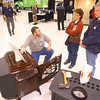 3-1-14  ---  Kris White talks about stand alone fireplaces with Kathy and David Kurfman at the Z92Five Home Show at the Ivy Tech Kokomo Event & Conference Center Saturday. -- <br /> KT photo | Tim Bath