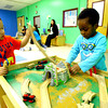 3-4-14   --- Bona Vista Daycare. Julian Aviles and Ezekiel Johnson playing together at the train table.  -- <br />   KT photo | Tim Bath