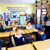 3-13-14   --- Acacia Academy located at Main Street UMC between South Main and South Union Street. Kindergarten teacher Brigit Braun works with the kids. -- <br />   KT photo | Tim Bath