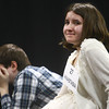 3-18-14<br /> Spelling Bee<br /> Anastasia Spahr of Maconaquah Elementary School smiles as Garrett Rogers of Peru Junior High School rests his heads in his hands after Spahr was named winner of the Spelling Bee on Tuesday evening. Rogers came in second.<br /> KT photo   Kelly Lafferty