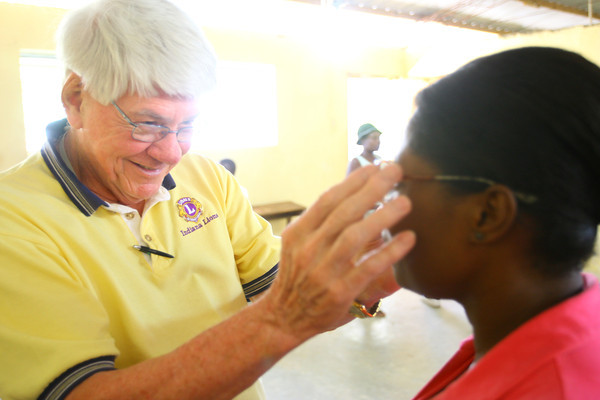 2-19-14   --- The Haitian Environmental Support Program(H.E.S.P.) founded by Doug Vaughn and the Lions Club traveled to Pilate, Haiti to fit about 1500 Haitians with glasses.  -- <br />   KT photo | Tim Bath