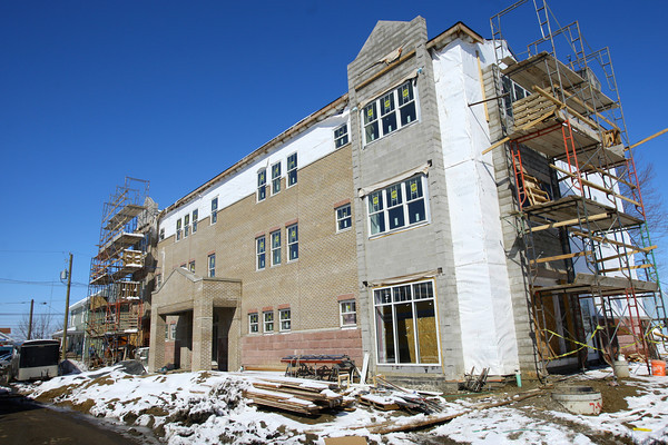 3-13-14   --- Jackson Commons Apartments at Jackson and Apperson Streets almost complete.  -- <br />   KT photo | Tim Bath