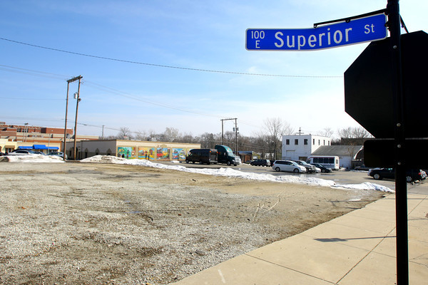 3-10-14   --- Site downtown at Main, Union and Superior over to the Wildcat Creek that the city wants a hotel on.  -- <br />   KT photo | Tim Bath
