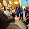 3-13-14   --- Sr Mary Grace, a sister of St. Francis of Perpetual Adoration,  sings and acts out a song with the 3rd graders during the Indiana Holy Family Catholic Conference.  -- <br />   KT photo | Tim Bath
