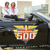 5-1-14   --- Indy 500 Pace Car with Princesses Danika Smith and Brittany Royer during a publicity event at IUK. -- <br />   Tim Bath | Kokomo Tribune