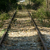 11-5-12<br /> Railroad tracks that lead south through Komo eventually heading to Tipton. Kokomo Grain is refurbishing the line to ship grain out.<br /> KT photo   Tim Bath
