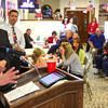 11-6-12<br /> Election reaction a Republican Headquarters.<br /> Mike Karickhoff talking.<br /> KT photo | Tim Bath