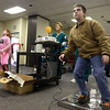 11-10-12<br /> Punkin Chunkin and TechKnow Fest<br /> Noah Gallaher, 13, (right) dances in Dance Dance Revolution with his sister 9-year-old Breann Gallaher during TechKnow Fest on Saturday at Ivy Tech.<br /> KT photo | Kelly Lafferty