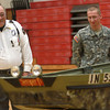 11-7-12<br /> Vietnam marine veteran Charles Morgan is surprised with a Johnboat at Taylor High School on Wednesday by Matt Johnson (right) and other students who bought, welded, and painted it for him.<br /> KT photo | Kelly Lafferty