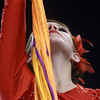 11-3-12<br /> Lewis Cass Marching band comp<br /> Meagan Munson of the Lewis Cass colorguard strikes the final pose during the Lewis Cass peformance at the State Marching Band Finals at Lucas Oil Stadium on Saturday.<br /> KT photo | Kelly Lafferty