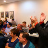 11-6-12<br /> Election reaction a Republican Headquarters.<br /> Jeff Stout happy about the numbers coming in his favor.<br /> KT photo | Tim Bath