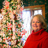 11-20-12<br /> Nancy Wyant with some of the Christmas trees that she decorates in her house.<br /> With the candy tree in the dining room.<br /> KT photo | Tim Bath