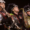 11-3-12<br /> Lewis Cass Marching band comp<br /> Logan Henry (center) plays the saxaphone during the Lewis Cass peformance at the State Marching Band Finals at Lucas Oil Stadium on Saturday.<br /> KT photo | Kelly Lafferty