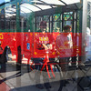 11-7-13<br /> Kokomo bus transit<br /> Passengers are reflected at the bus stop as they wait to board their bus.<br /> KT photo | Kelly Lafferty