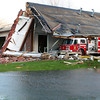 Sunday's tornado caused major damage to Fire Station No. 6 in Kokomo.<br /> KT photo | Kelly Lafferty