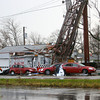 US 31 Damage near Eriks Chevrolet is cleared by Duke Energy.<br />   KT photo | Tim Bath