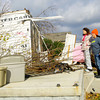 11-18-13  --  Tornado Followup. Allison Witt and sister Anastasia Davis pause between some of the cleanup at Witt's house at 1931 South Bell Street.<br />   KT photo | Tim Bath