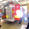 11-14-13  --  Peru Fire Department -- Repacking equipment after testing are firefighter Greg Hunt and Capt Erick Hawk<br />   KT photo | Tim Bath