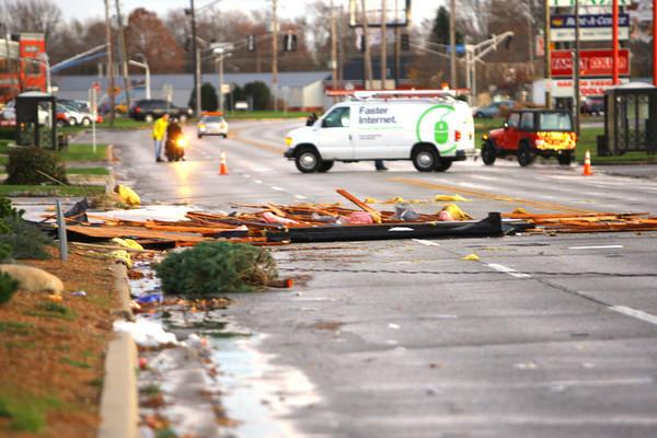 South Washington Street damage.<br />   KT photo   Tim Bath