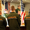 11-8-13  --  Veterans Stand Down event at the VFW post. Marines stand at attention while the colors are retired.<br />   KT photo | Tim Bath