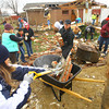 11-22-13  --  Ivy Tech employees take Friday afternoon to voluteer cleanup in the Cedar Crest subdivision. <br />   KT photo | Tim Bath