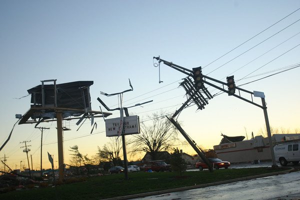 Lincoln Road damage.<br />   KT photo   Tim Bath