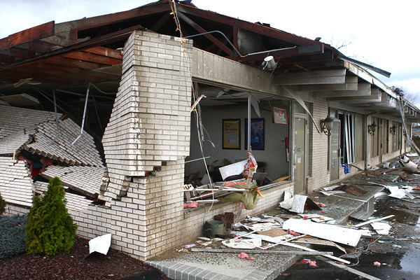 Severe storms caused damage to businesses along Hoffer Street.<br /> KT photo   Kelly Lafferty
