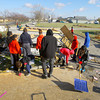 11-18-13  --  Tornado Followup. Kokomo High School kids help clean up areas on Hoffer Street including this UAW 685 storage barn and contents that was destroyed.<br />   KT photo   Tim Bath