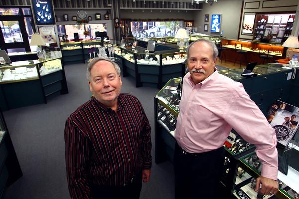 John Martin and Michael Freed owners of Palmer's Jewelry, 101 E. Sycamore Street, on Tuesday Nov. 11, 2014.<br /> Tim Bath | Kokomo Tribune