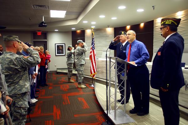 11-10-14<br /> Military Appreciation Days opening ceremony<br /> Tim Bath | Kokomo Tribune
