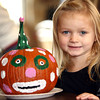 10-20-12 <br /> The Kokomo Parks & Recreation Department hosted at Pumpkin painting event at the Kirkendall Nature Center at Jackson Morrow Park on Saturday.<br /> Irland King, 5, with the pumkin she painted.<br /> KT photo | Tim Bath