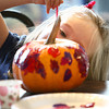 10-20-12 <br /> The Kokomo Parks & Recreation Department hosted at Pumpkin painting event at the Kirkendall Nature Center at Jackson Morrow Park on Saturday.<br /> Keeley Taylor, 2, painting her pumpkin.<br /> KT photo   Tim Bath
