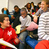 10-17-12<br /> Living in the Real World with 8th graders from area schools. Kids are giving a salery for the job they perform. They then have to pay bills after taxes are removed. Dominic Espinoza, Xavier Howard and Sebastian Shumaker laugh about the choices they made and how much money the have left or are in debt.<br /> KT photo   Tim Bath