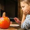 10-20-12 <br /> The Kokomo Parks & Recreation Department hosted at Pumpkin painting event at the Kirkendall Nature Center at Jackson Morrow Park on Saturday.<br /> Lara George, 6, painting her pumpkin.<br /> KT photo   Tim Bath
