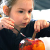 10-20-12 <br /> The Kokomo Parks & Recreation Department hosted at Pumpkin painting event at the Kirkendall Nature Center at Jackson Morrow Park on Saturday.<br /> Andrea Mosier, 6, painting her pumkin.<br /> KT photo   Tim Bath