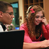 10-3-12<br /> Twilight School<br /> Jordan Etherington helps Shyla Bergesen with music on her laptop before returning to their online courses during Twilight School at Kokomo High School.<br /> KT photo | Kelly Lafferty