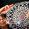 "10-8-12<br /> Susan McCauley with the ""Tatting"" that she does as a hobby.<br /> KT photo 