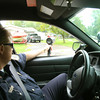 9-27-12 <br /> KPD Sgt. Tom Mygrant running radar and doing a drive through of Indian Heights. The newly annexed areas of Howard County into the City of Kokomo will have KPD coverage starting at 8 a.m. Monday Oct. 8, 2012.<br /> KT photo | Tim Bath