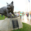 10-5-12 <br /> Dedication for the statue at the entrance to Walter Cross Field at Kokomo HS.<br /> KT photo | Tim Bath