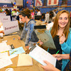 10-17-12<br /> Living in the Real World with 8th graders from area schools. Kids are giving a salery for the job they perform. They then have to pay bills after taxes are removed. Paige Ward and Brooke Smith talk about their expenses as Lucy Mavrick buys insurance. They are all from Central Middle School.<br /> KT photo   Tim Bath