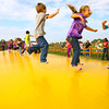10-4-13  --  On a field trip with Childrens Christian Academy jumping on the giant pillow at Guffey Acres.<br />   KT photo   Tim Bath