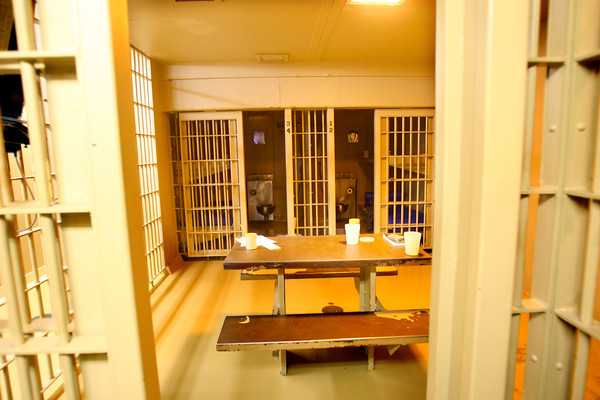 9-18-13  --  One of the cell pods that holds 4 prisoners at the Tipton County Jail.<br />    KT photo   Tim Bath