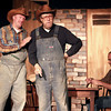 10-4-13<br /> Ole Olsen: Of Mice and Men<br /> Slim, played by Keith Martin, and Carlson, played by Bob Bryan act a scene from Of Mice and Men at Ole Olsen.<br /> KT photo | Kelly Lafferty